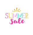 summer sale template 2 vector image vector image