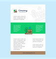 template layout for garden comany profile annual vector image