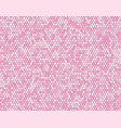 the pink circle dot bubble mosaic tiles background vector image