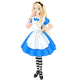 Thinking Alice vector image vector image