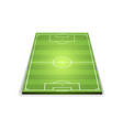 three dimensional model of football field vector image