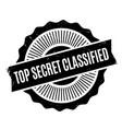top secret classified rubber stamp vector image vector image