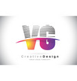 vg v g letter logo design with creative lines and vector image vector image