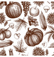 vintage autumn festival pattern vector image vector image