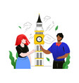 visit the uk - colorful flat design style vector image vector image