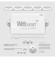 Web UI Elements vector image vector image