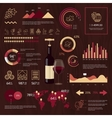 Wine infographics on wooden background vector image
