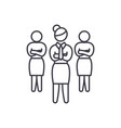 women in business line icon concept women in vector image
