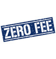 zero fee square grunge stamp vector image vector image