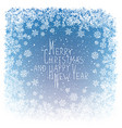 Merry Christmas Greeting New Year Postcard Design vector image