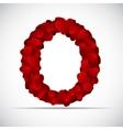 Valentine Day Alphabet of Hearts vector image