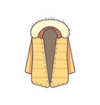 winter jacket cloth isolated icon vector image