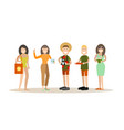summer people in flat style vector image