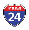 24 route sign icon road 24 highway vector image vector image