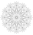adult coloring book mandala lotus flower vector image vector image