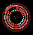 Alarm radar enemy at the location vector image