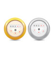analog water meter icon sanitary equipment vector image vector image