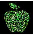 apple shape vector image vector image