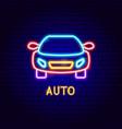 auto neon label vector image