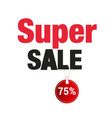 banner super sale 75 image vector image vector image