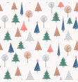 beautiful seamless pattern with cute vector image vector image
