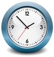 blue clock vector image vector image