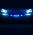bright stadium arena lights design illumination vector image