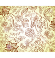 Brown floral background vector image vector image