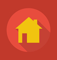 Business Flat Icon Real Estate vector image