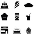 cake icon set vector image vector image