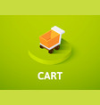 cart isometric icon isolated on color background vector image