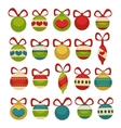 Christmas balls decoration Cartoon style vector image vector image