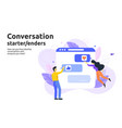 conversation start and enders concept vector image