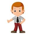 cute businessman cartoon vector image vector image