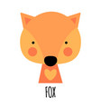 cute little fox animal icon vector image vector image