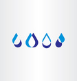drop water icon set collection logo design vector image