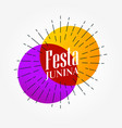 festa junina elegant background design vector image vector image