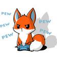 gaming fox vector image