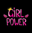 girl power label or cute sticker with vector image