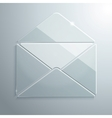 Glass Icon of an Open Envelope vector image vector image