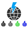 global shock flat icon vector image vector image