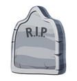 grave icon cartoon style vector image vector image