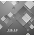Grey geometric tech background with glass squares vector image vector image