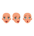 hairless head cute girl pretty young woman vector image