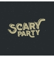 Halloween 2016 scary party typography label vector image vector image