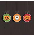 halloween decorations vector image vector image