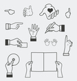 Hand and holding objects vector | Price: 1 Credit (USD $1)