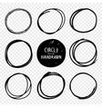 hand drawn circles sketches vector image vector image