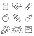 Health and Fitness icons Elements for print mobile vector image