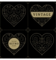 Heart vintage luxury logo template set vector image vector image